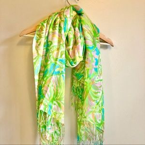 Silk and Cashmere Lilly Pulitzer Scarf
